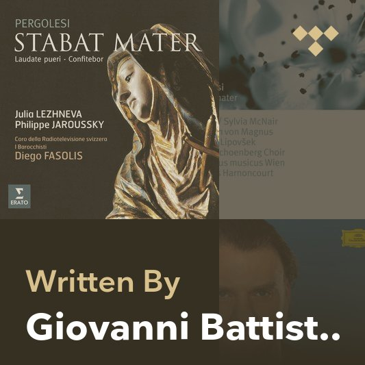 Songwriter Mix: Giovanni Battista Pergolesi