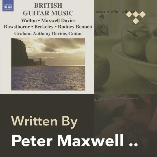 Songwriter Mix: Peter Maxwell Davies