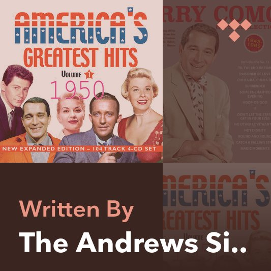 Songwriter Mix: The Andrews Sisters