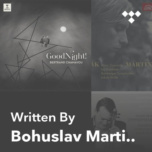 Songwriter Mix: Bohuslav Martinů